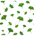 ginkgo leaves seamless pattern on white background vector image