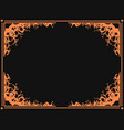 halloween frame october 31st scary branch borders vector image vector image