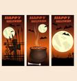 halloween vertical banners set happy halloween vector image