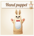 Hand Puppet Rabbit Cartoon vector image vector image