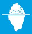 iceberg icon white vector image vector image