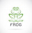 image of a frog design vector image vector image