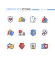 insurance - modern line design style icons set vector image