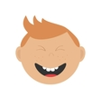 Laughing boy icon Cute cartoon character with red vector image vector image