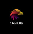 logo falcon gradient colorful styleuntitled-1 vector image vector image