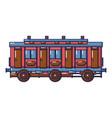 medieval passenger wagon icon cartoon style vector image