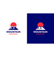 mountain logotype template positive and negative vector image