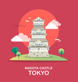 nagoya castle historic tourist attraction in vector image vector image