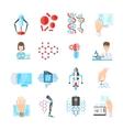 Nanotechnology Flat Icons Set vector image vector image