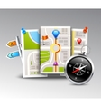 Navigation Realistic Background vector image vector image