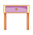 night stand table cartoon vector image