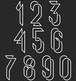 Numerical symbols line monogram numbers mockup vector image vector image