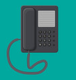 office black wired phone vector image
