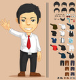 Office Worker Customizable Character vector image vector image