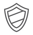 protection line icon guard and safety shield vector image