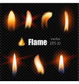realistic candle fire lighter flame vector image