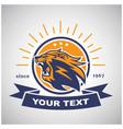 roaring lion head mascot retro vintage logo design vector image vector image