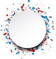Round background with confetti vector image vector image
