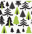 seamless pattern with winter christmas vector image vector image