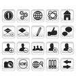 set community buttons icons part 1 vector image