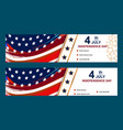 set of fourth of july cards happy independence vector image vector image