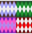 set of patterns wiyh rhombuses vector image