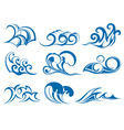 Set of wave symbols for design vector image vector image