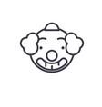 smiling clown emoji concept line editable vector image vector image
