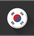 south korea national flag on dark background vector image vector image