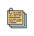 stack notes documents with paperclip recipe vector image