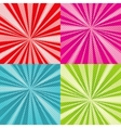 Sunburst rays comic pop art backgrounds set vector image vector image