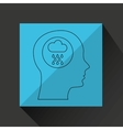 symbol weather icon silhouette head and cloud vector image