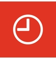 The time icon Clock sound symbol Flat vector image vector image