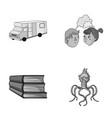 travel education and other monochrome icon in vector image