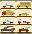 urban transport wallpaper stickers for children vector image