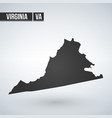 virginia map silhouette isolated on white vector image vector image