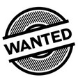 wanted black stamp vector image