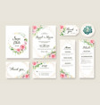 wedding invitation card save date template vector image