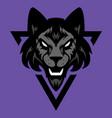 werewolf head logo vector image vector image
