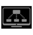 white halftone hierarchy monitoring icon vector image vector image