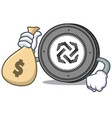 with money bag bytom coin character cartoon vector image vector image