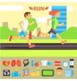 Jogging and Running Set vector image