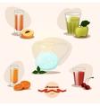 Juices fruit set vector image