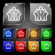 business team icon sign Set of ten colorful vector image
