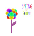Abctract buttons flower Spring has sprung vector image