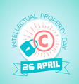26 April World Intellectual Property Day vector image