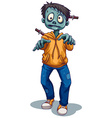 A scary male zombie vector image vector image