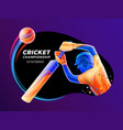 abstract batsman playing vector image