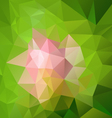 abstract pink flower on green polygon triangular vector image vector image
