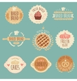Bakery Labels Set Bread Vintage vector image vector image